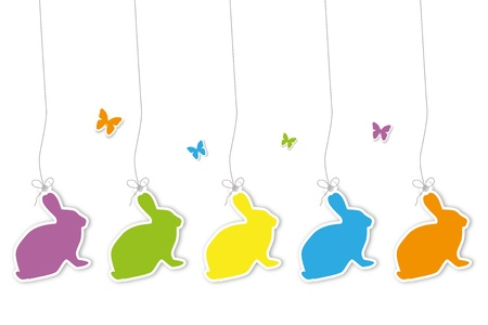 Set of easter hangtags Vector