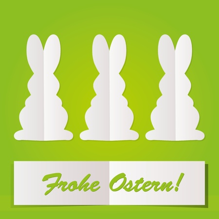 silhouette lapin: Lapin de Pâques cartes