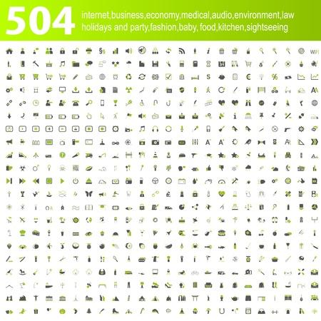 iconos: 504 iconos principales