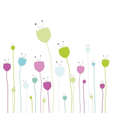 Tulip design on white background Illustration