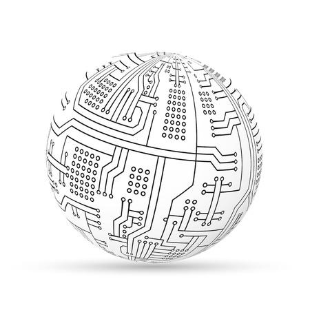 Circuit ball Illustration