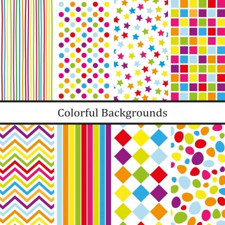 Kleurrijke achtergronden Stock Illustratie