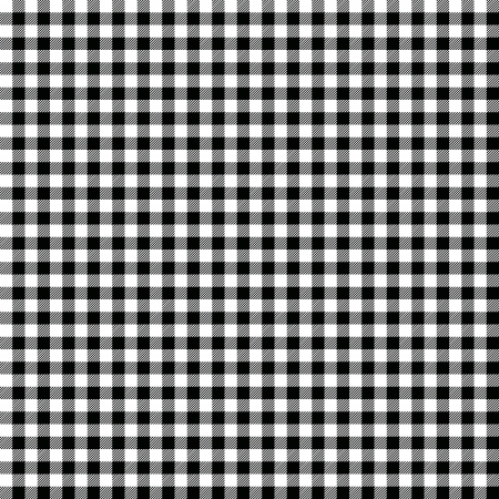 picnic blanket: Black and white checkered background Illustration