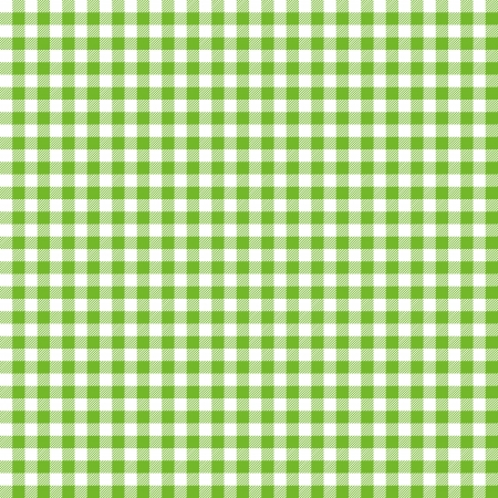 on the tablecloth: Green checkered background