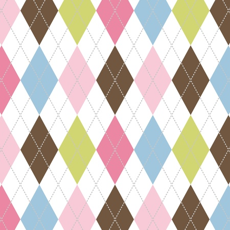 diamonds pattern: seamless pattern with dotted lines