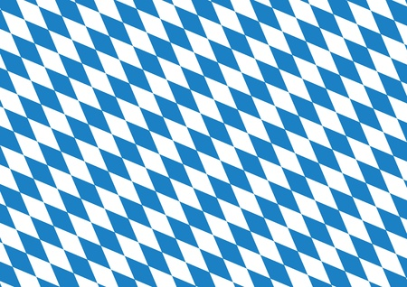 checked flag: Oktoberfest blue background Illustration
