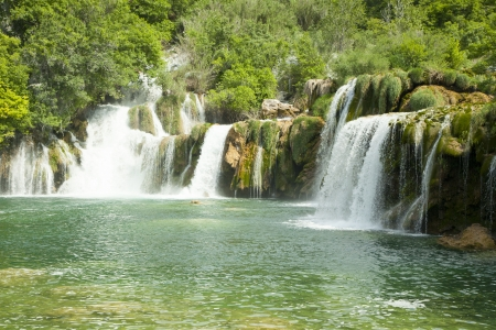 Waterfalls on Krka River. National Park, Croatia photo