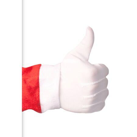 Santa Claus making thumbs up gesture Stock Photo - 23026955