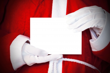 Santa Claus with blankness card