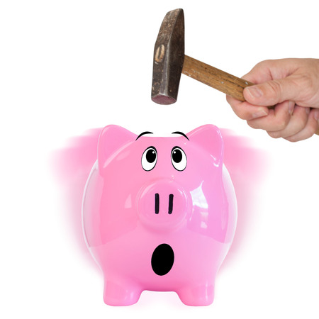 fearful: Fearful piggy bank