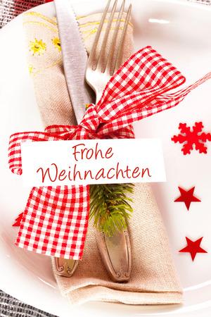 comida alemana: Navidad mesa