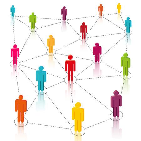 Social Media, Network Vector