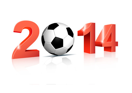 2014 and soccer ball photo