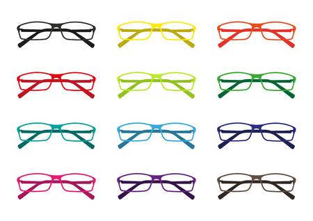 wayfarer: Glasses vector set  Illustration