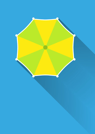 Umbrella, top view Vector