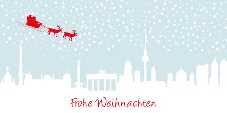 chancellery: Merry Christmas Berlin Illustration