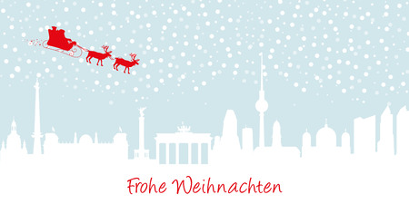 Merry Christmas Berlin Illustration