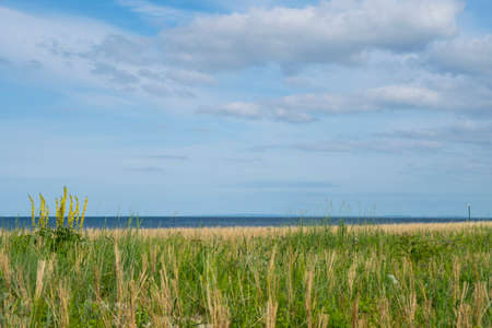 The Beach in Koelpinsee (Usedom Island at Baltic Sea) Stock Photo