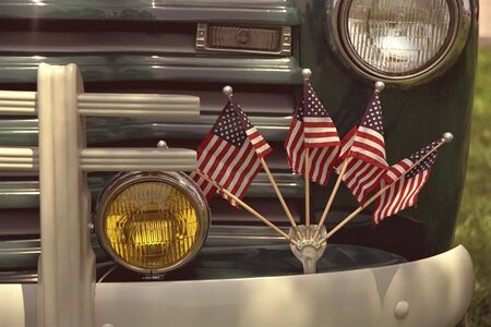 sported: A lot of pickups sported these flags.