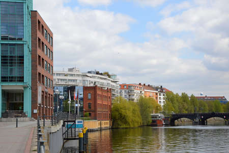 River Spree in Berlin Moabit 報道画像