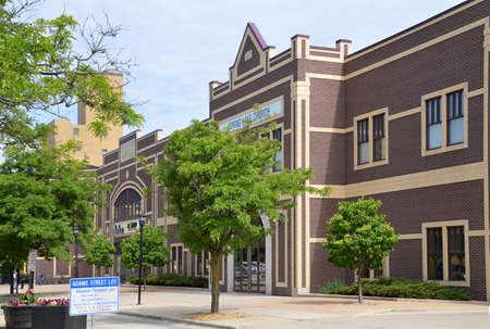Centre-ville de Green Bay, Wisconsin Banque d'images