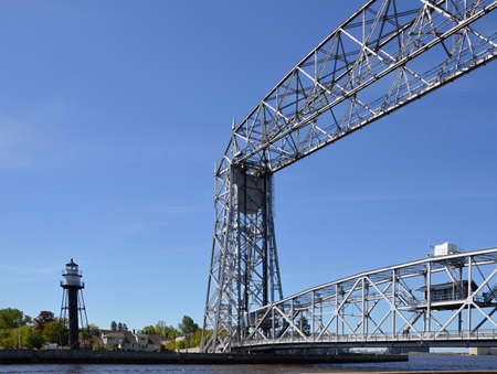 Steel Bridge in Duluth, Minnesota Banque d'images