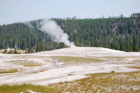 Old faithful Geyser at Yellowstone National Park, Wyoming