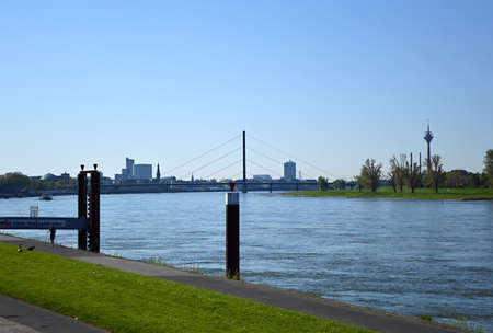 Skyline of Duesseldorf, North Rhine - Westphalia Stock Photo