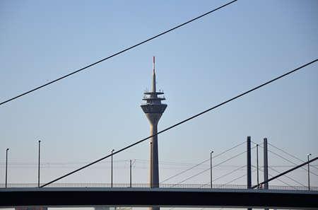 Skyline of Duesseldorf, North Rhine - Westphalia Stock Photo