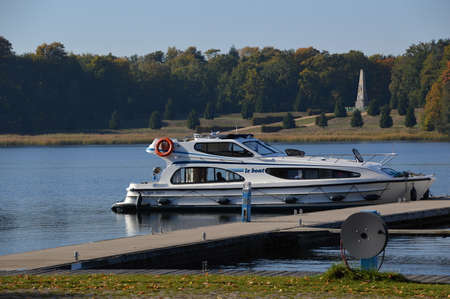Marina in Rheinsberg, Brandenburg Stock Photo