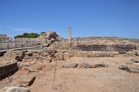 Roman Ruins on the Island of Sardinia, Italy