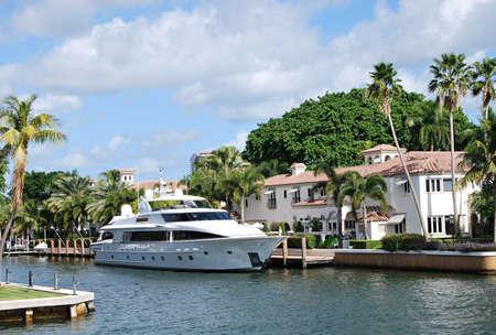 Marina in Fort Lauderdale, Florida 免版税图像