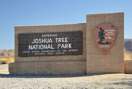 Entrance to Joshua Tree National Park, California