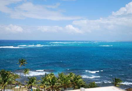 Shore Line in San Juan, Puerto Rico