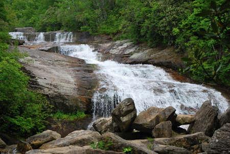 Waterfall at Blue Ridge Parkway, North Carolina Stock fotó