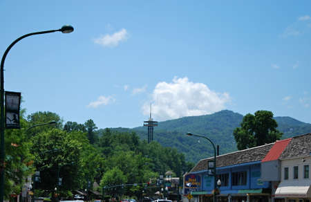 The Town of Gatlinburg in the Great Smoky Mountains, Tennessee