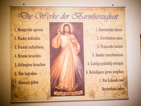 las obras de misericordia Foto de archivo
