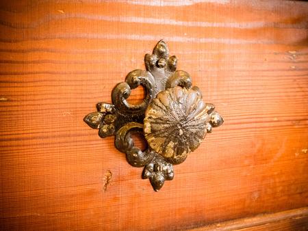the old door with doorknob vintage old wooden door