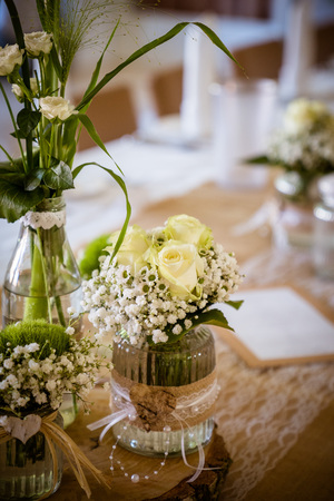 The wedding decoration in vintage look, natural discreet and beautiful