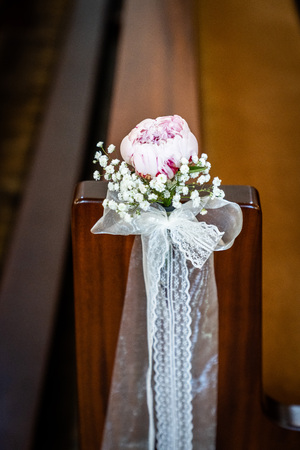 the peony at the church bench, jewelry for wedding