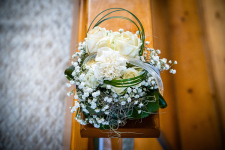 Beautiful floral wedding decoration Stock Photo