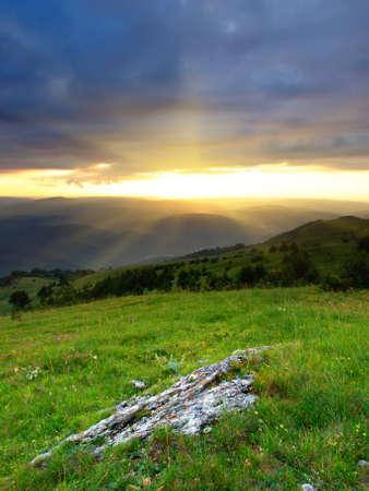 blue ray: Mountains region  Beautiful landscape