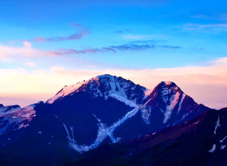 Beautiful mountain landscape during sundown photo