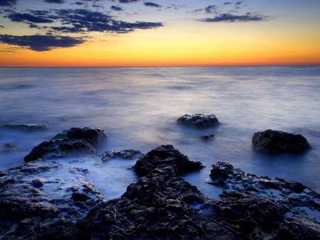 night scenery: Beautiful seascape during sunset