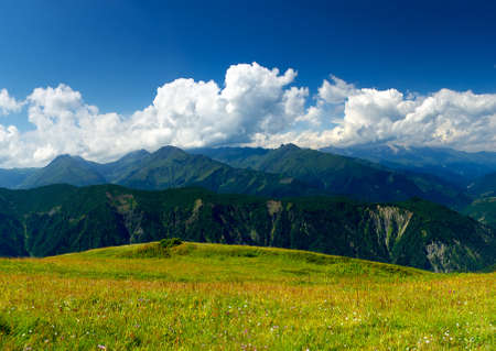 Mountain range  Beautiful summer landscape photo