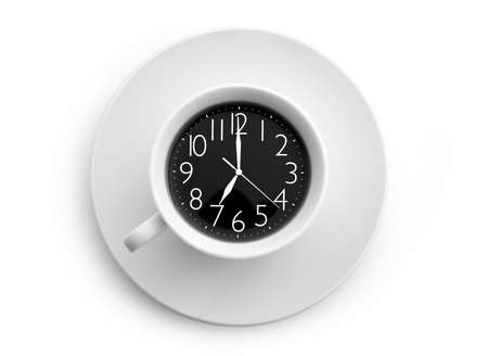 workday: Clock in the cup  Concept and idea