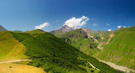 Mountain valley in the summer time  Beautiful landscape photo