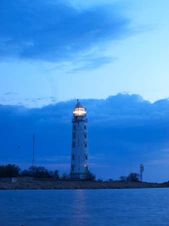 Lighthouse  Beautiful seascape Stock Photo - 22112007