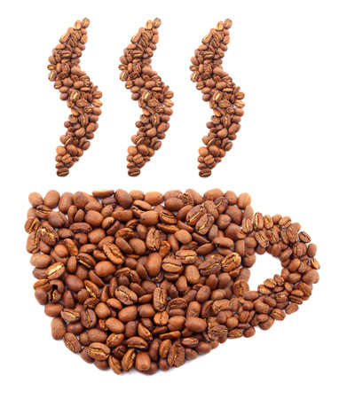 Cup from coffee grains Stock Photo