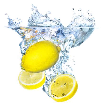 Lemons and water splash photo